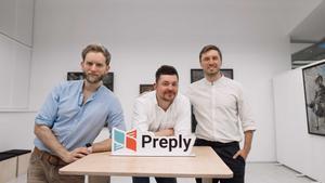 Los fundadores de Preply, Kirill Bigai, Serge Lukianov y Dmytro Voloshyn.