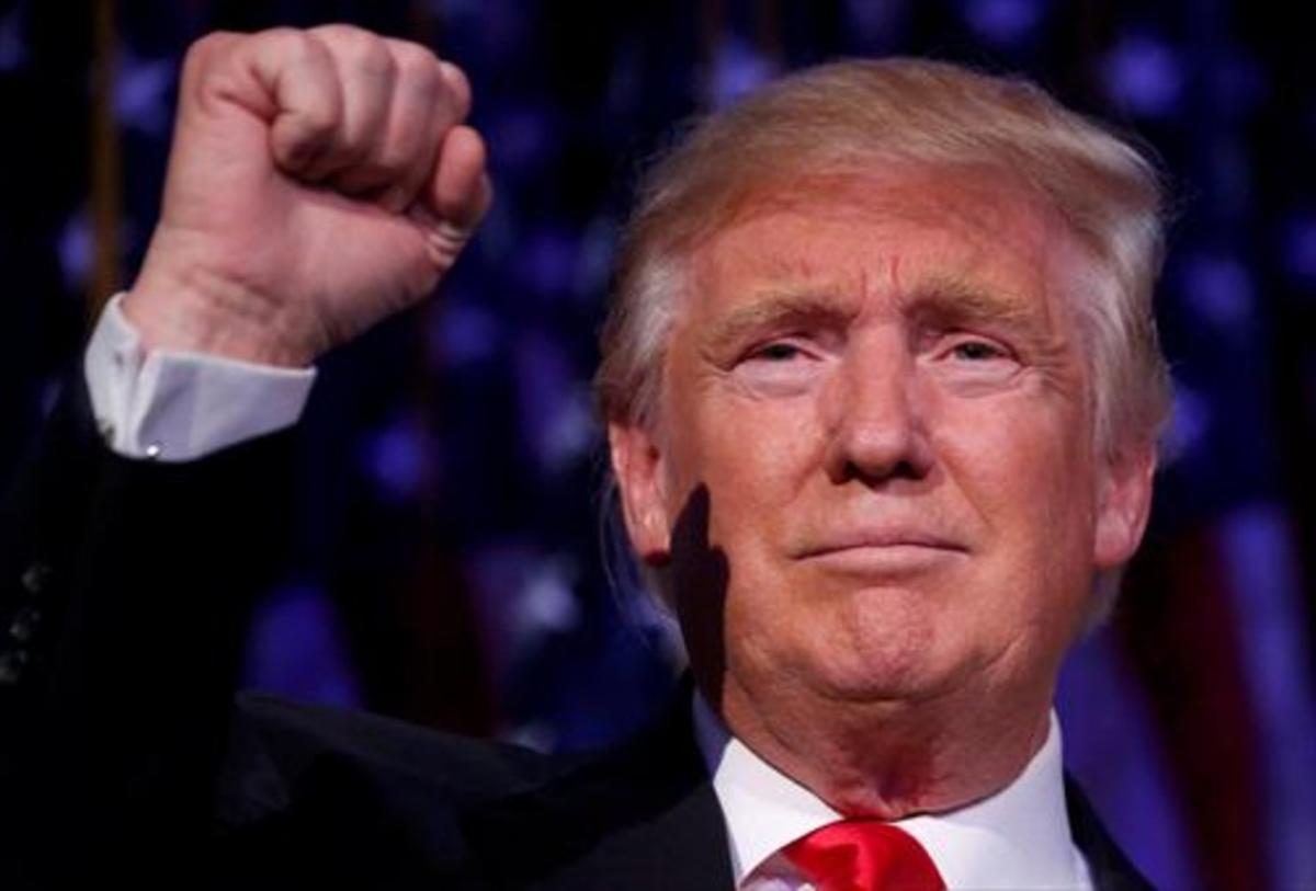 Donald Trump, tras conocer su éxito en la carrera electoral       a la Casa Blanca.