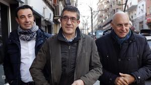 Patxi López, a su llegada al comité federal del PSOE, este sábado.