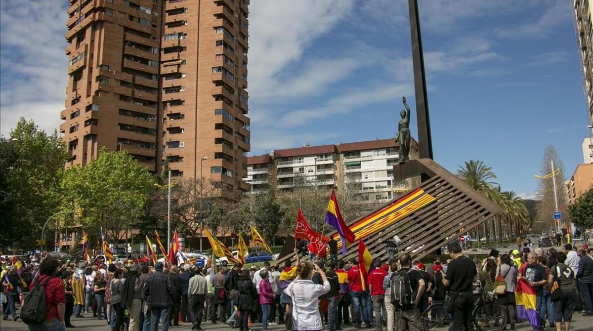 Fiesta republicana en la plaza de Llucmajor.