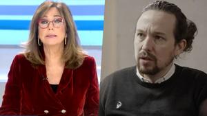 Ana Rosa Quintana y Pablo Iglesias