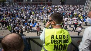 Uns 5.000 veïns i empleats d'Alcoa es concentren a Lugo