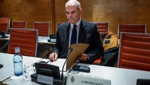 Comparecencia de Manuel Chaves en el Senado, en la comisión que investiga la financiación de los partidos.