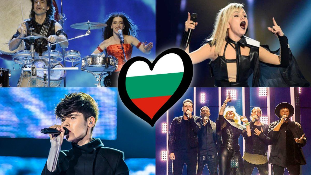 Algunos de los representantes de la historia de Bulgaría en el Festival de Eurovisión.