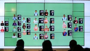 Los jugadores convocados, en sus posiciones.