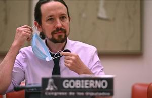 Pablo Iglesias, en el Congreso de los Diputados, el pasado jueves.