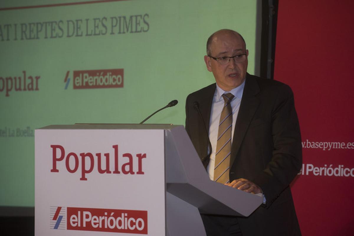 Fernando Rodríguez, durante su intervenciónenel Foro Pyme, en La Canonja (Tarragonès).