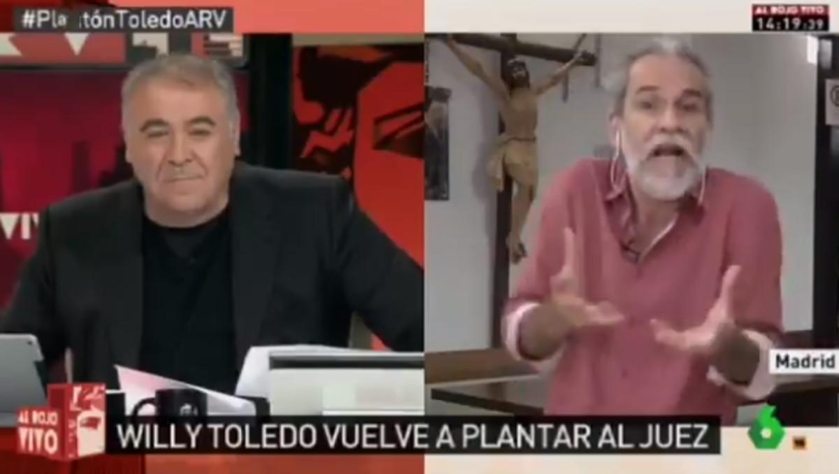 Tensa entrevista entre Willy Toledo y García Ferreras.