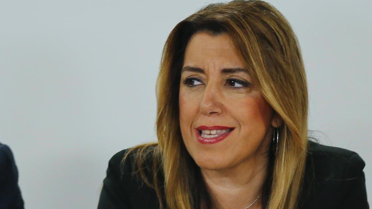 Susana Díaz, presidenta en funciones de la Junta de Andalucía