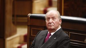 Juan Carlos I, el 6 de diciembre de 2018 en el Congreso, en el acto conmemorativo del 40º aniversario de la Constitución de 1978.