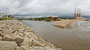 Desembocadura del río Besòs.