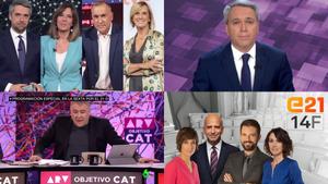 La cobertura de las cadenas generalistas y autonómicas para las elecciones catalanas de este domingo 14 de febrero