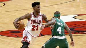 Jimmy Butler, con la camiseta de los Bulls.