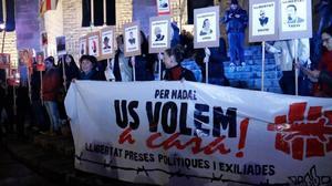 Manifestación a favor de los CDR encarcelados.