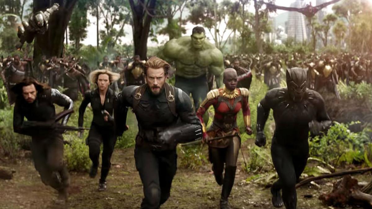 Un fotograma de 'Vengadores: Infinity war'