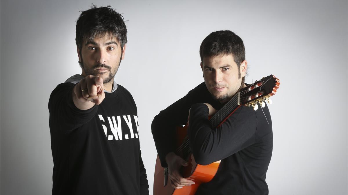 Los hermanos Estopa.