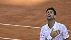 Djokovic, al alcanzar la final de Roma.