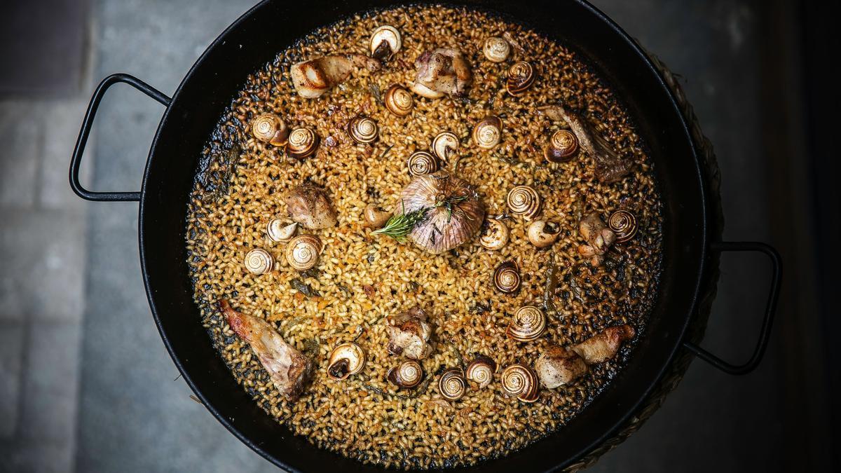 El arroz de conejo y caracoles del restaurante Cadaqués.