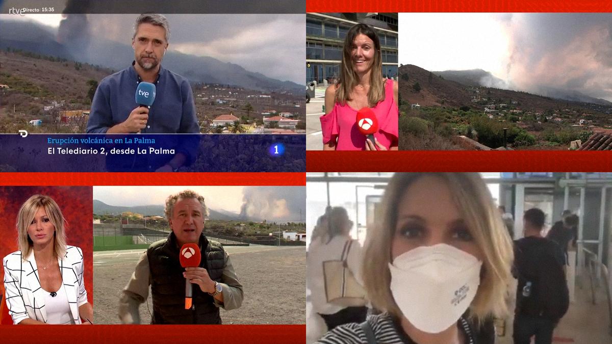 TVE i Antena 3 també envien els seus presentadors fins a La Palma pel volcà