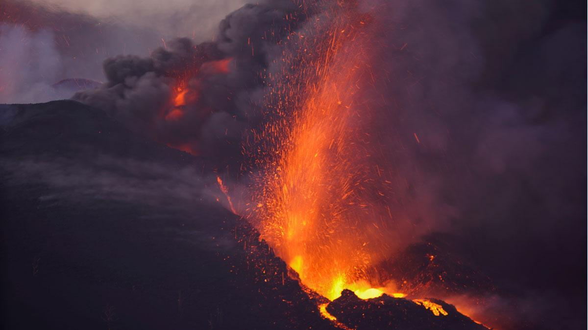 El volcán de La Palma.