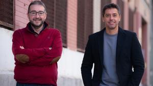 Juan Ramón Santos y Pablo Gutiérrez, ganadores de los premios Edebé.