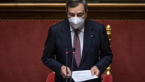 Mario Draghi i el seu gabinet obtenen l'ampli recolzament del Senat d'Itàlia