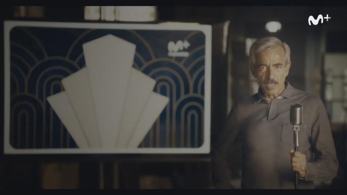 El actor Imanol Arias, en el video de promoción que anuncia la nueva serie de Movistar+ 'Velvet colección'.