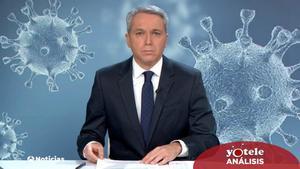 Vicente Vallés en la segunda edición de Antena 3 Noticias.