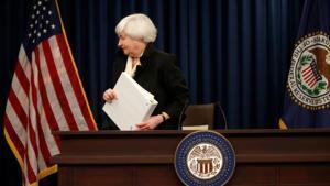 La presidenta de la Reserva Federal, Janet Yellen, en una comparecencia el pasado junio en Washington.