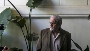 El escritor Juan Marsé, en un restaurante de Barcelona.