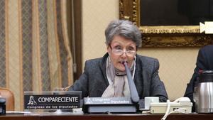 Rosa Maria Mateo en el Congreso de los Diputados.