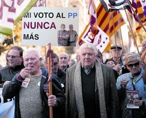 Reivindicación en las callesMultitudinaria manifestación de pensionistas, el martes pasado, en Barcelona.