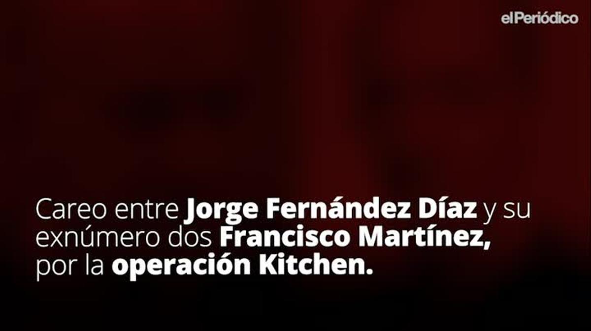 Fragmento del careo entre Jorge Fernández Díaz y Francisco Martínez por la 'operación Kitchen'