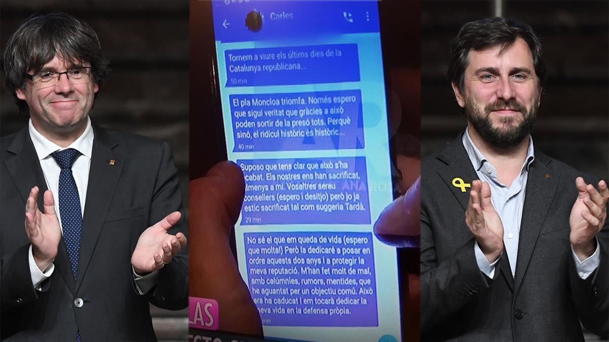 Puigdemont y Comín se querellan contra Ana Rosa Quintana