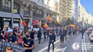 Momento de la manifestación neonazi en Chueca.