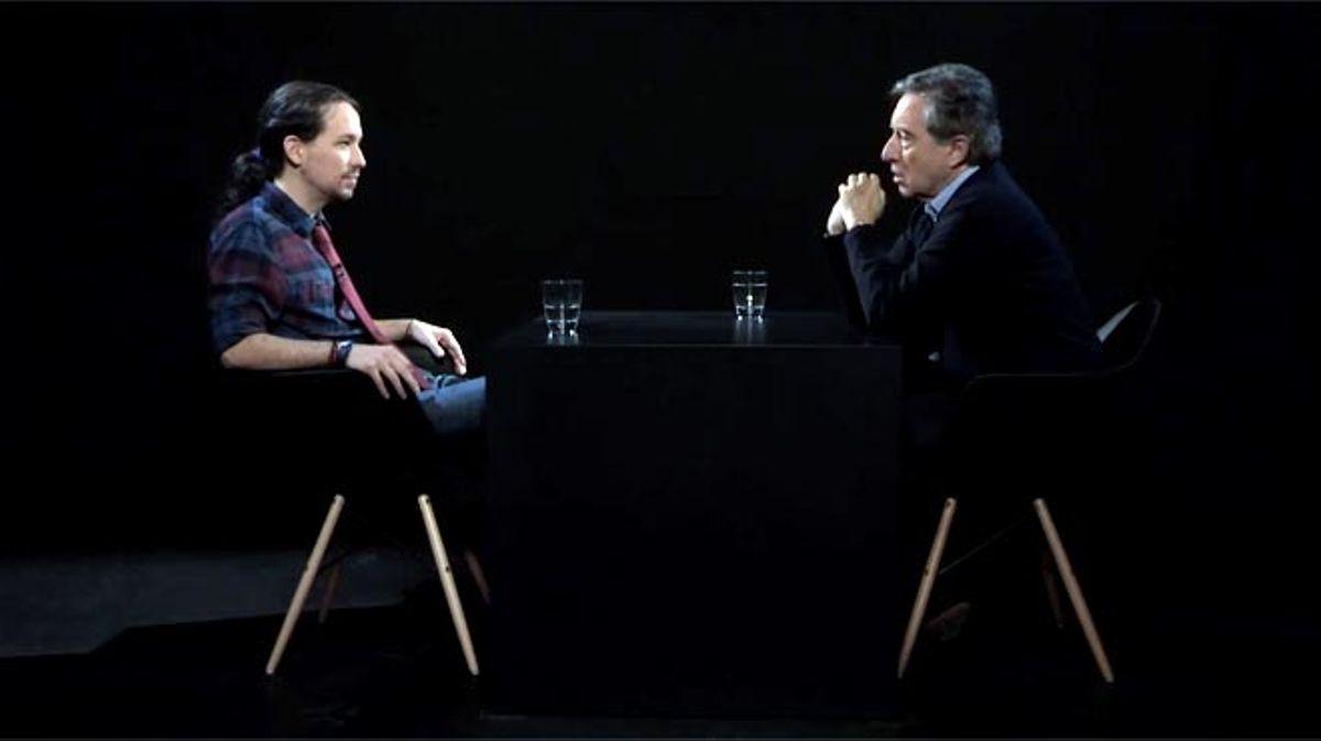 Pablo Iglesias con Iñaki Gabilondo