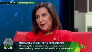 Margarita Robles en 'laSexta noche'.