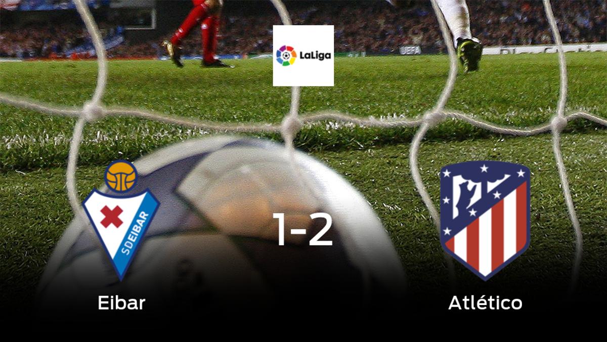 El Atlético de Madrid vence 1-2 en casa del Eibar