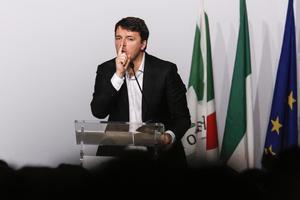 Renzi, durante su intervención en el congreso de su partido.