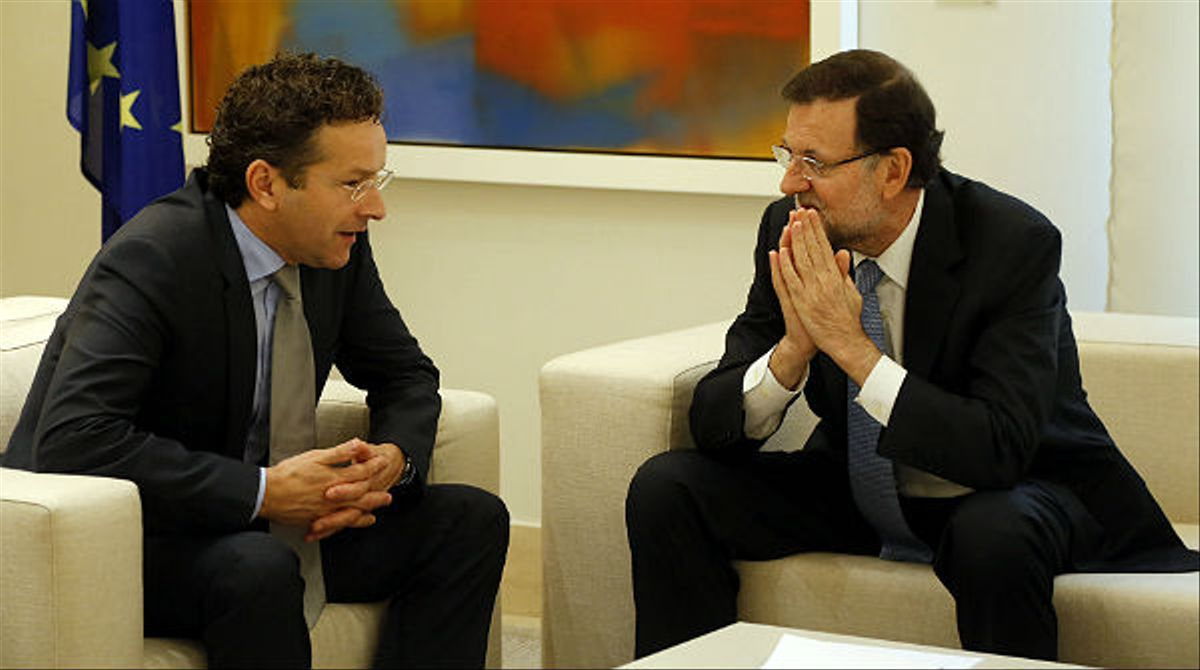 Rajoy se reúne con el presidente del Eurogrupo