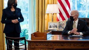El presidente de EEUU, Joe Biden, el pasado martes junto a la vicepresidenta Kamala Harris en la Casa Blanca.
