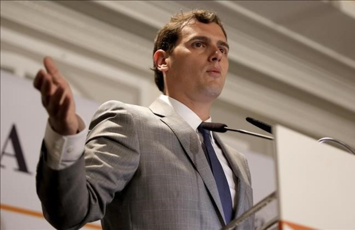 Albert Rivera, este lunes, durante un acto organizado por El Economista.