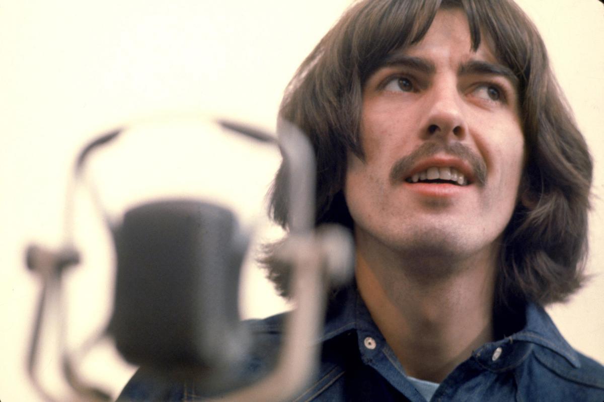 George Harrison, durante la grabación de 'Let it be', en 1969.
