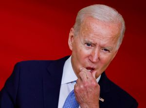 El presidente de Estados Unidos, Joe Biden, durante un discurso en la Casa Blanca.
