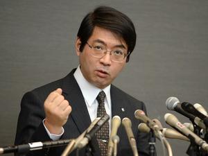 Yoshiki Sasai, en una roda de premsa, l'abril d'aquest any.
