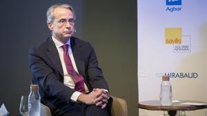 Barcelona 14 09 2020    Economia     Javier Faus  presidente del Cercle de Economia durante el  coloquio en el Cercle de Economia  Fotografia de Jordi Cotrina