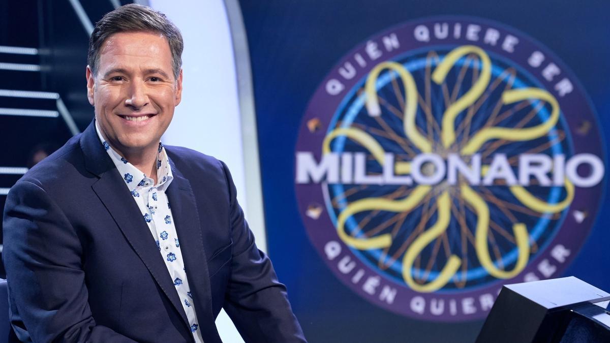 Carlos Latre en el plató de '¿Quién quiere ser millonario?'