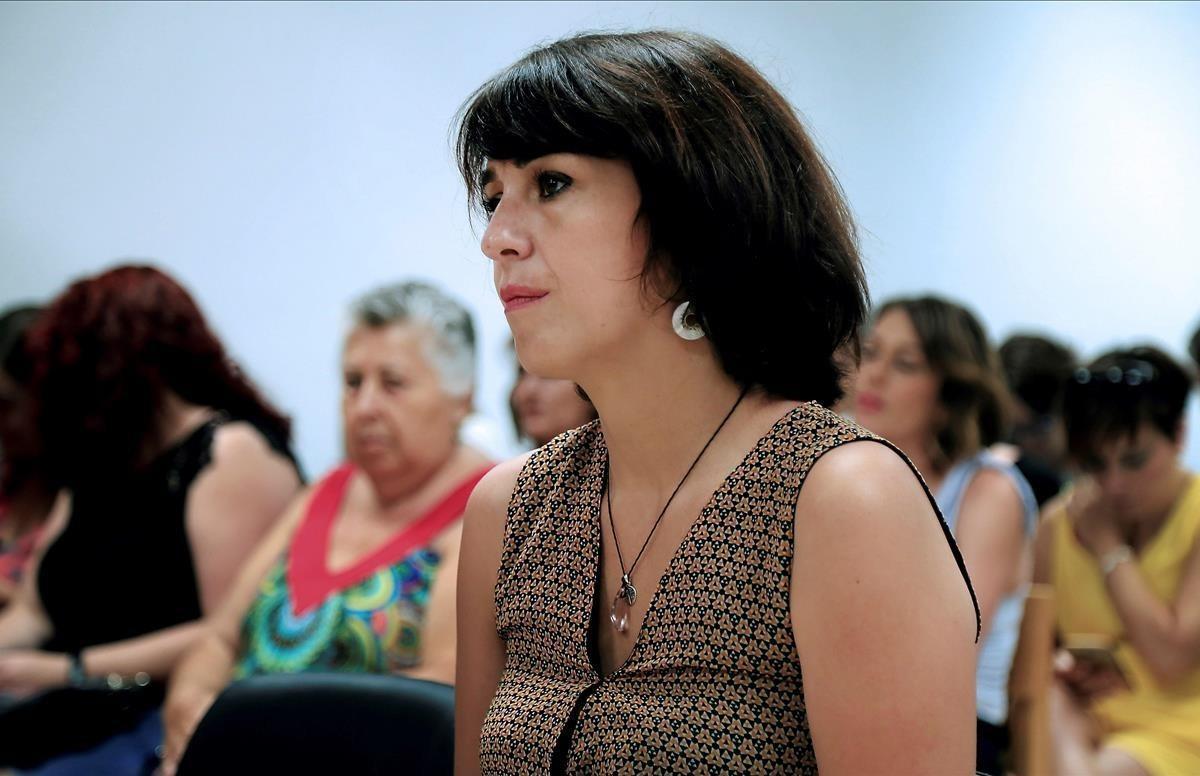 Juana Rivas, en el juzgado de lo penal de Granada.
