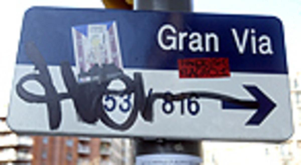 Letrero Gran Via.
