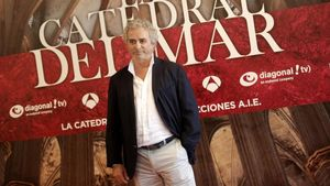 Ildefonso Falcones, en la presentación de la serie televisiva basada en su novela 'La catedral del mar'.